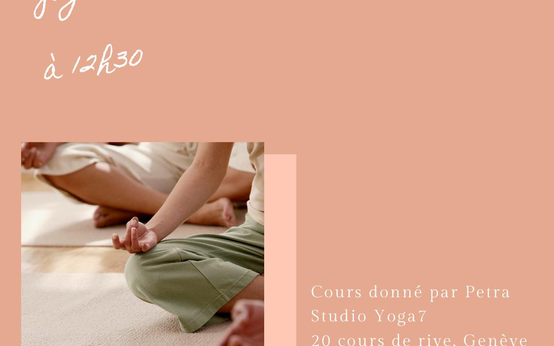 Mardi 23 juin à 12h30 chez Yoga7 à Rive
